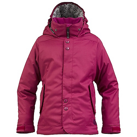 Snowboard On Sale. Free Shipping. Burton Girls' Melody Jacket DECENT FEATURES of the Burton Girls' Melody Jacket WAterproofing: DRYRIDE Durashell 2-Layer Slud Twill Fabric NEW Aquapel DWR Coating Warmth: Mapped with Thermacore Insulation 120G Body and Sleeves / 80G Hood and Collar Printed Taffeta Lining Mesh-Lined Pit Zips Zippered Handwarmer Pockets Includes Girls' Jacket Features Package This product can only be shipped within the United States. Please don't hate us. - $68.99