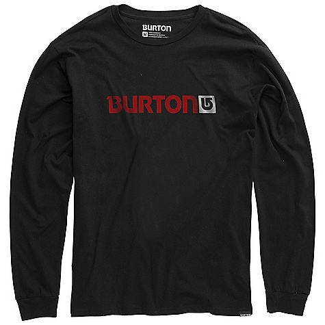 Snowboard On Sale. Burton Men's Logo Horizontal LS Tee DECENT FEATURES of the Burton Men's Logo Horizontal Long Sleeve Tee 100% Cotton Screen Print on Front and Back Regular Fit This product can only be shipped within the United States. Please don't hate us. - $16.99