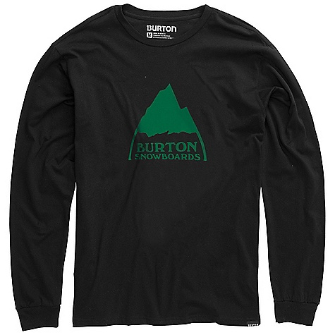 Snowboard On Sale. Burton Men's Mountain Logo LS Tee DECENT FEATURES of the Burton Men's Mountain Logo Long Sleeve Tee 100% Cotton Screen Print on Front and Back Regular Fit This product can only be shipped within the United States. Please don't hate us. - $17.99