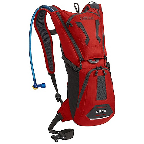 Entertainment On Sale. Free Shipping. CamelBak Lobo 100oz Hydration Pack DECENT FEATURES of the CamelBak Lobo 100oz Hydration Pack External Fill Air Director Back panel Ultra-Light 3D Mesh Harness Removable 25mm / 1in. Stability BELT Bike Tool Organizer Pocket Overflow Storage External fill Bike tool organizer pocket Dual compression straps Stretch overflow storage Designed to Carry: Multi-tool, pump, spare tube, energy bar, MP3, phone, wallet, keys The SPECS Total Capacity: 200 cubic inches / 3.28 liter + 3 liter Reservoir Pack Only Weight: 1.08 lbs / 49 kg Dimension: 17.5 x 7 x 7in. / 45 x 18 x 16 cm Fabric: 70D Diamond Clarus and 420 Nylon with DWR + 1000 mm PU Hydration Capacity: 100 oz / 3 liter Frame Size: 16 in / 41 cm - $64.99