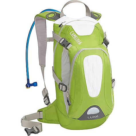 Fitness On Sale. Free Shipping. CamelBak Women's L.U.X.E. 100 oz Hydration Pack DECENT FEATURES of the CamelBak Women's L.U.X.E. 100 oz Designed for Women Rear Handle Drop Slot Air Director Back panel Removable 25mm / 1in. Stability Belt Helmet Carry Media Pocket Bike Tool Organizer Pocket Overflow Storage Independent Suspension with Velvetex lining and Slider Sternum Strap Bike tool organizer pocket Four point compression Stretch overflow helmet storage Designed to Carry: Helmet, multi-tool, pump, spare tube, extra layer, lunch, MP3, phone, cards and cash, keys The SPECS Total Capacity: 519 cubic inches / 8.5 liter + 3 liter Reservoir Pack Only Weight: 1.41 lbs / 64 kg Dimension: 18 x 8 x 9.5in. / 45 x 20 x 24 cm Fabric: 70D / 140D Dobby with DWR + 1000 mm PU Hydration Capacity: 100 oz / 3 liter Frame Size: 15 in / 38 cm - $68.99