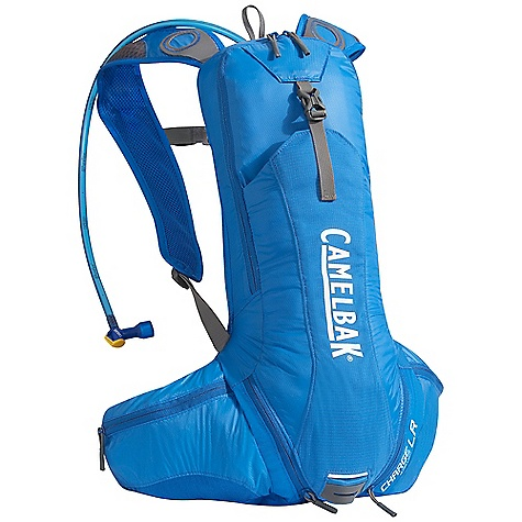 Entertainment On Sale. Free Shipping. CamelBak Charge LR 70 oz Hydration Pack DECENT FEATURES of the CamelBak Charge LR 70 oz Reservoir Hanger Loop External Fill Lumbar Lightweight Exoskeleton Back panel Independent Fixed 25mm / 1in. waist belt with cargo pockets Bike Tool Organizer Pocket Overflow Storage Ultra-light materials Lumbar reservoir compression Bike tool organizer pocket Stretch overflow storage Designed to Carry: Multi-tool, CO2 pump and cartridges, spare tube, extra layer, energy supplements, phone, wallet, keys The SPECS Total Capacity: 427 cubic inches / 7 liter + 2 liter Reservoir Pack Only Weight: 16 oz / 460 g Dimension: 20 x 8 x 5in. / 51 x 20 x 13 cm Fabric: 40D Diamond Ripstop and 210D Nylon with DWR + 1000 mm PU + Silicone Hydration Capacity: 70 oz / 2 liter Frame Size: 17.5 in / 44 cm - $79.99