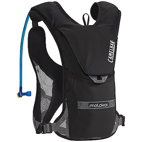 Fitness Free Shipping. CamelBak Molokai 70 oz Vest DECENT FEATURES of the CamelBak Molokai 70 oz External fill Open mesh air channel Custom fit tension adjust with cargo pockets Water-friendly materials Stretch storage overflow Safety whistle Paddle holster Lumbar PFD compatible Design to Carry: Inflatable PFD, waterproof electronics case, sunscreen, snack The SPECS Hydration Capacity: 70 oz / 2 liter Frame Size: 15 in 38 cm Total Capacity: 2 liter Reservoir Pack Only Weight: 13.4 oz / 380 g Dimension: 15 x 8 x 4.5in. / 38 x 20 x 11 cm Fabric: 70D Diamond Clarus with DWR + 1000 mm PU and closed-cell foam - $98.95