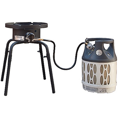 Camp and Hike Free Shipping. Camp Chef Universal Output Single Burner Stove DECENT FEATURES of the Camp Chef Universal Output Single Burner Stove Low pressure 24in. cooking height 30,000 BTU/hr Detachable leg 1 cast iron burner extensions included The SPECS Box Dimension: (L x W x H): 16.5 x 9 x 17in. Box Weight: 18 lbs - $99.95