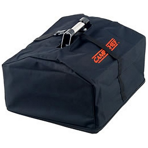 Camp and Hike Camp Chef BBQ Box Carry Bag DECENT FEATURES of the Camp Chef BBQ Box Carry Bag Protects your stove and grill Weather-resistant liner Bungee cords and hooks for wind protection Quality cover for patio or base camp The SPECS Box Dimension: (L x W x H): 16.5 x 7.5 x 2in. Box Weight: 1 lb - $18.75