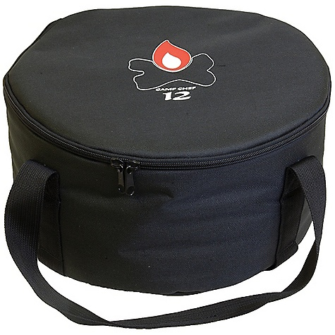 Camp and Hike Camp Chef Dutch Oven 12IN Carry Bag DECENT FEATURES of the Camp Chef Dutch Oven 12IN Carry Bag Tie down straps to keep oven secure Padded liner to keep oven safe Long carry handles The SPECS Box Dimension: (L x W x H): 17 x 8 x 2in. Box Weight: 2.25 lbs - $20.83