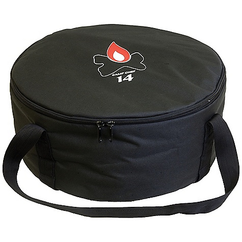Camp and Hike Camp Chef Dutch Oven 14IN Carry Bag DECENT FEATURES of the Camp Chef Dutch Oven 14IN Carry Bag Tie down straps to keep oven secure Padded liner to keep oven safe Long carry handles The SPECS Box Dimension: (L x W x H): 16.5 x 8 x 4in. Box Weight: 2.50 LB - $22.92