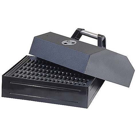 Camp and Hike Free Shipping. Camp Chef Barbecue Box with Lid DECENT FEATURES of the Camp Chef Barbecue Box with Lid 14in. x 16in. cooking surface (224 square inches) Cast iron grill surface Removable lid Does not fit on SHL140L The SPECS Box Dimension: (L x W x H): 17 x 16 x 10.5in. Box Weight: 23 lbs - $83.33