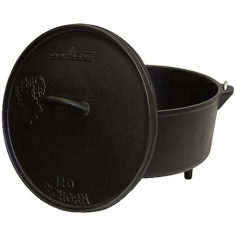 Camp and Hike Free Shipping. Camp Chef Deep Big Horn 12IN Dutch Oven DECENT FEATURES of the Camp Chef Deep Big Horn 12IN Dutch Oven True Seasoned Finish - Seasoned cast iron is ready to cook and easy to maintain Raised Around Lid - Designed for easy use of charcoal briquettes or wood Handled Lid And Bail - Allows for convenient handling and transport Thermometer Channel - Checks internal temp. without moving your lid The SPECS Box Dimension: (L x W x H): 13.5 x 8 x 13.5in. Box Weight: 20 lbs - $64.58