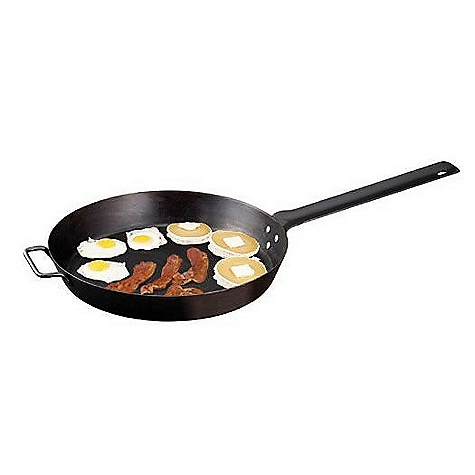 Camp and Hike Camp Chef 16IN Lumberjack Skillet DECENT FEATURES of the Camp Chef 16IN Lumberjack Skillet Large capacity for group cooking High sides for better food control Black, True Seasoned, non-stick finish The SPECS Box Dimension: (L x W x H): 17 x 17 x 3in. Box Weight: 8 lbs - $45.84