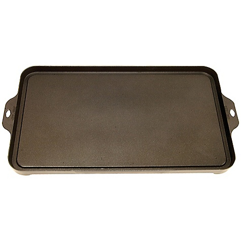 Camp and Hike Camp Chef Non-Stick Aluminum Griddle DECENT FEATURES of the Camp Chef Non-Stick Aluminum Griddle Lightweight aluminum Excellent heat transfer Non-stick finish Easy clean up The SPECS Box Dimension: (L x W x H): 21.5 x 11.5 x 1.5in. Box Weight: 5 lbs - $43.75