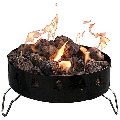 Camp and Hike Free Shipping. Camp Chef Portable Fire Ring DECENT FEATURES of the Camp Chef Portable Fire Ring 15in. diameter Convenient and portable 55,000 BTU/hr Forest friendly design Propane powered For outdoor use Lava rocks included 2 Roasting sticks included Carry bag included The SPECS Box Dimension: (L x W x H): 15 x 16 x 9.5in. Box Weight: 25 lbs - $103.12
