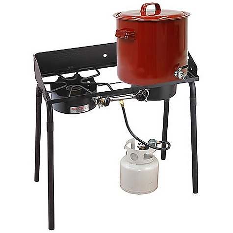 Camp and Hike Free Shipping. Camp Chef Outdoorsman Double High 2 Burner Stove DECENT FEATURES of the Camp Chef Outdoorsman Double High 2 Burner Stove 14in. x 32in. cooking area 2 durable burners 120,000 BTU/hr 29in. cooking height Detachable legs High/high burner combos Windscreen included The SPECS Box Dimension: (L x W x H): 34.5 x 8.5 x 16in. Box Weight: 40 lbs - $187.50