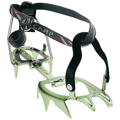 Climbing The XLC 470 Crampon by Camp USA is the lightest 12 point crampons in the world. Absolutely perfect for comPetitive ski mountaineering and glacier travel. Not suitable for ice Climbing or intensive mixed terrain. Innovative stamped construction on the front platform distributes pressure applied to one point across the entire platform significantly increasing the strength and durability of the crampon. Available in three binding styles. For telemark or A/T boots, use the XLC 390 with automatic binding. Features of the Camp USA XLC 470 Crampon General Mountaineering, High Altitude Climbing World's lightest 12-point semi-auto crampons! 3-D shaped frame maximizes strength and Performance Semi-automatic bindings Fit most mountaineering boots Wear indicators on the side points show when it is time for replacement Optional Vibram anti-balling plates (18106 - sold separately) - $119.96