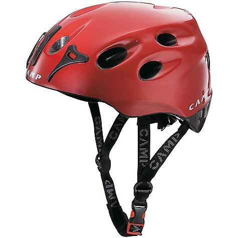 Climbing The Pulse Helmet by Camp USA is not the average helmet. A cross-certified helmet for Climbing and skiing. Well-ventilated polystyrene shell is light and comfortable for warm weather outings. Converts to a ski helmet with the addition of ear covers and vent plugs, both part of the accessory winter kit (1639 ? sold separately). Headlamp compatible. Conforms to EN 12492 and 1077 standards. Features of the Camp USA Pulse Helmet In-mold construction Rotating size adjustment wheel Comfort chin strap Goggle and headlamp compatible EN 12492 / EN 1077 ski certified (when used with Winter Kit) Construction: In-Mold Shell Material: Polycarbonate - $74.99