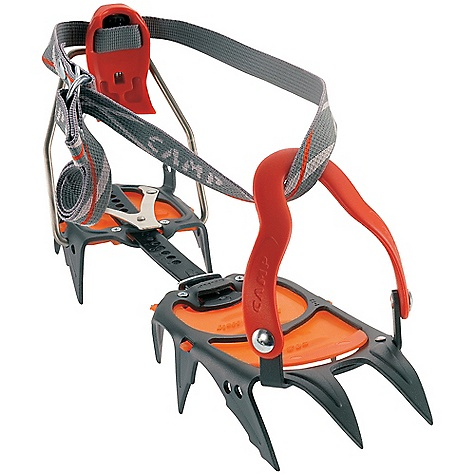 Climbing Free Shipping. Camp USA C12 Crampon DECENT FEATURES of the Camp USA C12 Crampon Alpinism, General Mountaineering Multiple adjustment points and micro-adjustable heel ensure a precise fit Point design assures secure foot placements and comfortable walking Slightly flared points reduce balling 3-D shaped frame maximizes strength and performance Semi-automatic bindings fit most mountaineering boots Tool-free size adjustment The SPECS Points: 12 Anti-Balling Plates: Included Materials: Chromoly Steel The SPECS for Auto Binding: Automatic Size: 36-47 cm / 14-18.5 in Weight: 996 g / 35.1 oz The SPECS for Semi-Auto Binding: Semi-Automatic Size: 36-48 cm / 14-19 in Weight: 1020 g / 36.0 oz The SPECS for Universal Binding: Universal Size: 36-48 cm / 14-19 in Weight: 978 g / 34.5 oz ALL CLIMBING SALES ARE FINAL. - $169.95