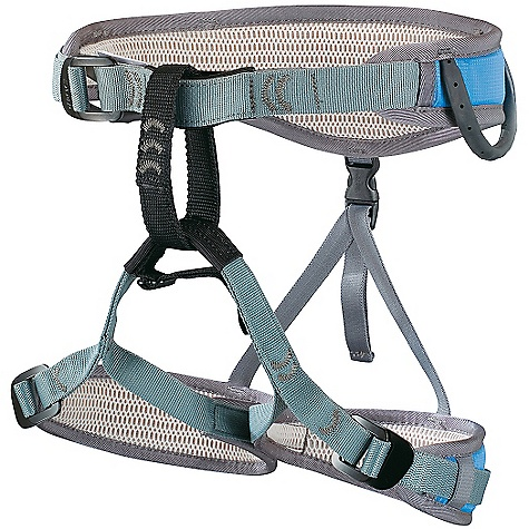 Climbing Free Shipping. Camp USA Jasper JR Harness DECENT FEATURES of the Camp USA Jasper JR Harness Rock Climbing Sliding Waist Belt System 3-mm Perforated EVA Foam Edge-Load Construction on the legs Pre-Threaded Auto-Locking Buckles on the waist and legs 2 webbing reinforced gear loops and a chalk bag loop Adjustable elastic straps with a drop seat Recommended for children 5 to 10 years old not exceeding 85 lbs The SPECS Waist: 58-70 cm / 23-27 in Legs: 42-55 cm / 16.5-21 in Weight: 349 g / 12.3 oz ALL CLIMBING SALES ARE FINAL. - $59.95