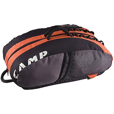 Climbing On Sale. Free Shipping. Camp USA Rox Cragging Pack DECENT FEATURES of the Camp USA Rox Cragging Pack Cragging UltraPack HD156 fabric Spinal ventilation Ventilated shoulder straps Padded back panel Daisy chains for clipping bottles and pro Large, comfy handles for easy hauling Designed to accommodate the Rocky Rope Tarp Two external mesh pockets with cover flaps   The SPECS Weight: 560 g / 1 lb 4 oz Volume: Volume: 40 L, 2440 cubic inches - $44.96