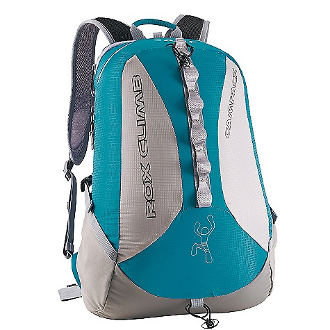 Climbing On Sale. Free Shipping. Camp USA Rox Climb Pack DECENT FEATURES of the Camp USA Rox Climb Pack Climbing Spinal ventilation Ventilated shoulder straps and back panel Adjustable sternum strap and waist belt Two external stretch pockets Zippered pockets for valuables Daisy chain for clipping bottles and pro Retractable rope carrying system that doubles as a hydration port The SPECS ID: 1932 Weight: 505 g, 1 lb 2 oz Volume: 20 L, 1220 cu in - $89.96