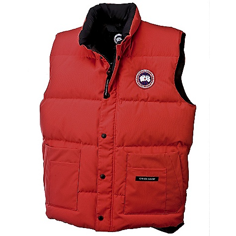 Hunting Free Shipping. Canada Goose Men's Freestyle Vest DECENT FEATURES of the Canada Goose Men's Freestyle Vest Hip-length, but cut longer in the back for more protection from cold and wind Heavy-duty, centre-front YKK locking zipper Storm flap over centre-front zipper secured with Canada Goose logo snaps Unique, triple-function pockets, including; two fleece-lined hand warmer pockets, two large drop-in pockets and two small drop-in pockets One interior secured with Velcro closure The SPECS Centre Back Length: 28.25in. / 71.76 cm Fill Power: 625 fill power white duck down Fit: Regular Insulated This product can only be shipped within the United States. Please don't hate us. - $274.95