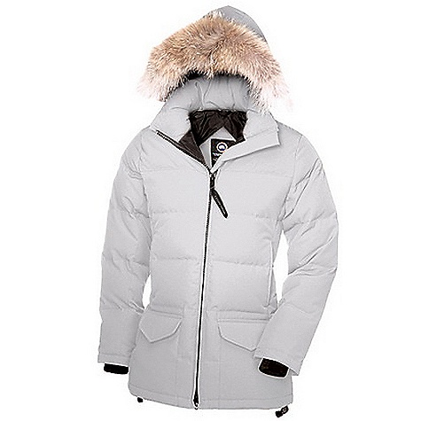 Hunting Free Shipping. Canada Goose Women's Solaris Parka FEATURES of the Canada Goose Women's Solaris Parka Rated a 4 on Canada Goose's Thermal Experience Index, this jacket should keep you warm around 0degF Low-hip length provides good protection Removable Coyote fur ruff, with an adjustable bracing wire for superior protection in high wind conditions, on a Removable hood with a Velcro secured collar adds warmth and versatility Heavy-duty, centre front YKK 2-way locking zipper Insulated flap behind centre front zipper for added protection from the wind Two fleece-lined handwarmer pocket Two interior pockets Right security pocket with zipper closure, left drop-in pocket Two lower pockets secured with Velcro flaps Adjustable hem drawcord seals out wind and snow Recessed, heavy-duty, rib-knit cuffs keep out the cold Natural coyote fur - $850.00
