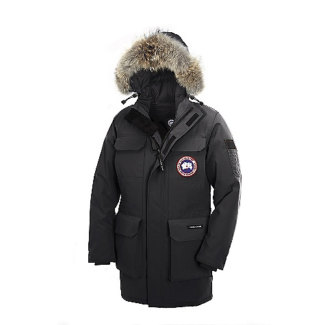 Hunting Free Shipping. Canada Goose Men's Citadel Parka FEATURES of the Canada Goose Men's Citadel Parka Rated a 4 on Canada Goose's Thermal Experience Index, this jacket should keep you warm around 0degF Mid-thigh length provides good protection Removable Coyote fur ruff surrounding a 2-way adjustable tunnel hood (vertically and hood opening), with an adjustable bracing wire for superior protection in high-wind conditions Heavy-duty, centre front YKK 2-way locking zipper Storm flap over centre front zipper secured with Velcro Insulated windguard underneath centre front zipper for greater warmth and protection from the cold High-pile fleece for the chin guard provides extra warmth Four fleece-lined, zippered hand warmer pockets hidden behind chest and lower pockets Two upper chest pockets secured with Velcro flaps and two lower full-bellow snow pockets secured with Velcro flaps Utility pocket on the left sleeve Back webbing grab-strap for hanging, with sewn-on Canada Goose name patch Two interior pockets, the top left security pocket with zipper closure, lower drop-in pocket Adjustable, elasticized waist draw cord provides added warmth Recessed, heavy-duty, rib-knit cuffs keep out the cold and snow Natural coyote fur - $1,000.00