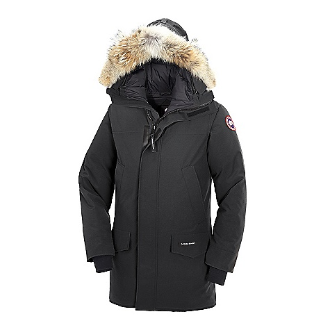 Hunting Free Shipping. Canada Goose Men's Langford Parka FEATURES of the Canada Goose Men's Langford Parka Rated a 4 on Canada Goose's Thermal Experience Index, this jacket should keep you warm around 0degF Mid- thigh length provides good protection Removable Coyote fur ruff surrounding a removable 1-way adjustable tunnel hood (vertically) Heavy-duty, center front YKK 2-way locking zipper Storm flap over center front zipper secured with Velcro Insulated storm flap underneath center front zipper for greater warmth and protection from the cold Four fleece-lined, zippered hand warmer pockets hidden behind chest and lower pockets Utility pen pocket on left sleeve Two lower pockets secured with Velcro flaps Two interior pockets, the top left security pocket includes a zipper closure lower drop-in pocket Adjustable waist draw cord provides added warmth Recessed, heavy-duty, rib-knit cuffs keep out the cold and snow Natural coyote fur - $900.00