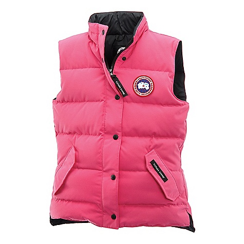 Hunting Free Shipping. Canada Goose Women's Freestyle Vest FEATURES of the Canada Goose Women's Freestyle Vest Hip-length, but cut longer in the back for more protection from cold and wind Heavy-duty, centre front YKK 1-way locking zipper Storm flap over heavy-duty zipper secured with Canada Goose embossed logo snaps Two fleece-lined handwarmer pockets, each secured with two hidden snaps One interior drop-in pocket secured with Velcro closure - $350.00