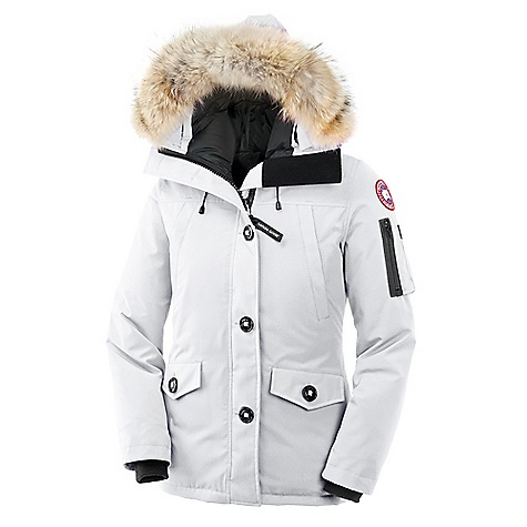 Hunting Free Shipping. Canada Goose Women's Montebello Parka FEATURES of the Canada Goose Women's Montebello Parka Rated a 3 on Canada Goose's Thermal Experience Index, this jacket should keep you warm around 10degF Low-hip length provides good protection against bitter gusts of wind and freezing park benches One-way adjustable down hood (hood opening) surrounded by a Removable Coyote fur ruff for those good hair days Fleece-lined chin guard is soft and comfy, helping you avoid awful chin chafing Heavy-duty, centre front YKK 2-way locking zipper secured with Military button closure keeps moisture out Two upper fleece-lined handwarmer pockets are secured with snap closure. I use them to store my mints. Two lower fleece-lined pockets with flaps secured by Military button closures for keeping your paws warm or holding your phone Features a utility pocket on left sleeve as well as two interior pockets. Just imagine all the neat things you can put in these. Right inside security pocket with zipper closure has an additional stretch media pocket with headphone access opening so you can take your fav band with you on your morning trek Interior shoulder straps allow you to carry the parka like a backpack when out of the elements. So easy. The recessed heavy-duty rib-knit cuffs keep out the cold gusts of wind, helping to lock in the toasty warmth Internal elastic drawcord to adjust the waist without having to fight with external toggles Natural coyote fur - $800.00