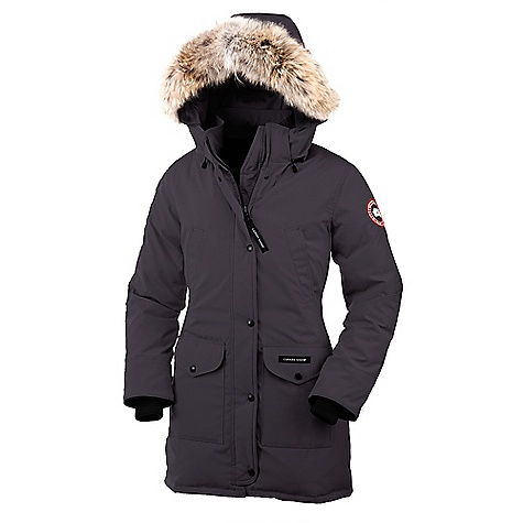 Hunting Free Shipping. Canada Goose Women's Trillium Parka FEATURES of the Canada Goose Women's Trillium Parka Rated a 4 on Canada Goose's Thermal Experience Index, this jacket should keep you warm in temperatures around 0degF, plus or minus 10deg Mid-thigh length provides good protection Removable 2-way adjustable tunnel hood (vertically and hood opening) with an adjustable bracing wire for superior protection in high wind conditions, with Removable Coyote fur ruff and a hidden snap-secured collar Heavy-duty, centre front YKK 2-way locking zipper Storm flap over centre front zipper secured with Canada Goose embossed snaps Two fleece-lined high-handwarmer welt pockets Two lower fleece-lined flap pockets secured with embossed snaps One interior drop-in pocket with Velcro Waist drawcord provides great fit and added warmth Recessed, heavy-duty, rib-knit cuffs to keep out the cold Natural coyote fur - $900.00