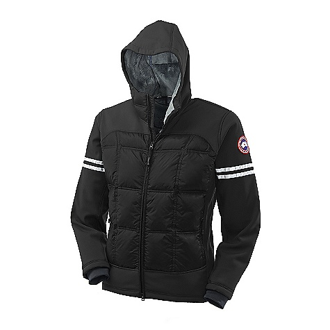 Hunting Free Shipping. Canada Goose Men's Hybridge Hoody DECENT FEATURES of the Canada Goose Men's Hybridge Hoody Hip-length, but cut longer at the back for more protection from the cold and wind Shaped hood with high collar closure for greater warmth Centre-front YKK 2-way locking zipper, with Canada Goose logo zipper pull Insulated centre-front storm flap Two hand pockets secured with YKK reversed coil zippers 3M Reflective tape around biceps Single-handed adjustable hem with elastic draw cord Canada Goose logo ribbon along inside collar Elbow articulation, for greater movement Grab strap at the centre back Recessed, Lycra stretch cuffs for comfort and warmth Interior left hand drop in pocket with Velcro closure The SPECS Centre Back Length: 29.25in. / 74.3 cm Fill Power: 750 fill power Hutterite white duck down Fit: Slim Insulated This product can only be shipped within the United States. Please don't hate us. - $624.95