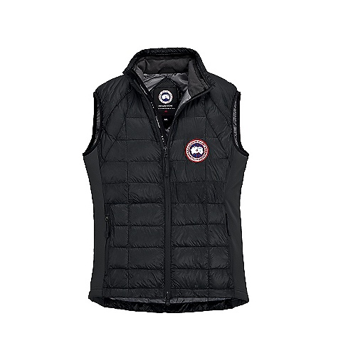 Free Shipping. Canada Goose Men's Hybridge Lite Vest DECENT FEATURES of the Canada Goose Men's Hybridge Lite Vest Superderm 10D outer fabric allow for aspects of the down fill to show through, yet it is still fully abrasion resistant Quilt through design to reduce pack size Polartec Power Stretch Hard face inserts located at the sides for extended comfort and maximized fit Centre-front YKK 2-way locking reversed coil zipper with Canada Goose Logo puller Die-cut centre-front storm flap, with a wrap-over brushed tricot chin guard and finished with Canada Goose Logo ribbon behind the zipper Lower hand pockets are secured with YKK reverse coil zippers and zipper pulls Self packable into exterior left hand pocket Internal stretch mesh pocket Two vertical strips of 3M Reflective tape on collar for better visibility Brush tricot lined collar for added comfort and warmth Stretch Lycra armholes for comfort and fit The SPECS Centre Back Length: 28.25in. / 71.76 cm Fill Power: 800 fill power Hutterite white goose down Fit: Slim Insulated This product can only be shipped within the United States. Please don't hate us. - $324.95