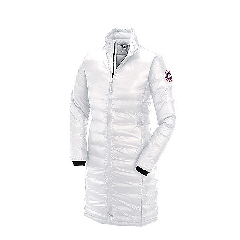 Camp and Hike Free Shipping. Canada Goose Women's Camp Down Coat DECENT FEATURES of the Canada Goose Women's Camp Down Coat Windproof by construction Long-thigh length provides maximum protection Down filled collar adjusts with a drawcord to seal out drafts Centre front YKK 2-way locking reversed coil zipper, with Canada Goose logo zipper pull Insulated centre front storm flap that extends over centre front zipper Brushed tricot at chin for comfort Canada Goose logo ribbon runs along centre Two hand pockets secured with YKK reverse coil zippers and zipper pulls Brushed tricot at the back of the neck for increased warmth Access to single-handed adjustable hem using pocket access to seal out cold and wind Internal stretch mesh pocket Lycra stretch cuffs for comfort and warmth The SPECS Centre Back Length: 37.5in. / 95.25 cm Fill Power: 750 Fill Power Hutte Rite White Duck Down Fit: Slim Insulated This product can only be shipped within the United States. Please don't hate us. - $494.95