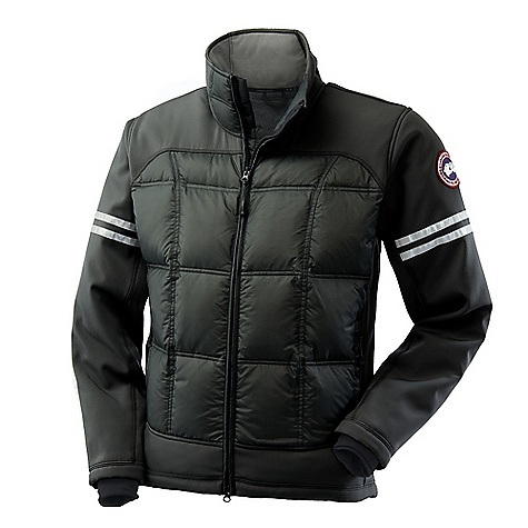 Hunting Free Shipping. Canada Goose Men's Hybridge Jacket DECENT FEATURES of the Canada Goose Men's Hybridge Jacket Hip-length, but cut longer at the back for more protection from the cold and wind Centre front YKK 2-way locking zipper, with Canada Goose logo zipper pull Insulated centre front storm flap Two hand pockets secured with YKK reversed coil zipper 3M reflective tape around lower sleeve Brushed tricot lined collar for increased warmth Single-handed adjustable hem to seal out cold and wind Canada Goose logo ribbon along inside collar Elbow articulation, for greater movement Recessed, Lycra stretch cuff s for comfort and warmth Interior left hand drop-in pocket with Velcro closure The SPECS Centre Back Length: 27in. / 68.58 cm Fill Power: 750 fill power Hutterite White duck down Fit: Slim Insulated This product can only be shipped within the United States. Please don't hate us. - $574.95