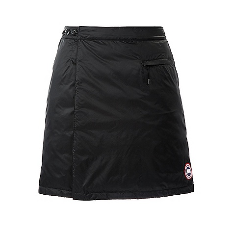 Camp and Hike Free Shipping. Canada Goose Women's Camp Skirt DECENT FEATURES of the Canada Goose Women's Camp Skirt Windproof by construction Wrap-around design for the greatest ease of movement Low thigh length for style and moderate overage 3-button adjustable waistband, with elastic along the back for improved fit and internal brushed tricot lining for comfort Internal, elasticized anchor to keep the skirt wrapped and in place Single drop-in pocket on front right, secured with zipper closurein. The SPECS Skirt Length: 18in. / 45.72 cm Fill Power: 750 Fill Power Hutterite White Duck Down Fit: Slim Insulated This product can only be shipped within the United States. Please don't hate us. - $224.95