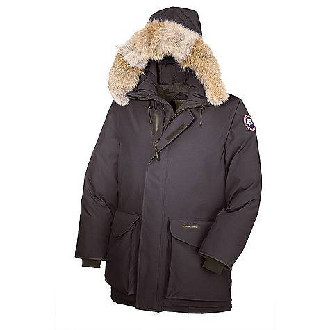 Hunting Free Shipping. Canada Goose Men's Ontario Parka DECENT FEATURES of the Canada Goose Men's Ontario Parka Mid-thigh length provides good protection 2-way adjustable tunnel hood (vertically and hood opening) surrounded by a removable Coyote fur ruff, with an adjustable bracing wire for superior protection in high-wind conditions Heavy-duty, centre front YKK 2-way locking zipper Storm flap over centre front zipper secured with Velcro Two large cargo pockets secured with Velcro flaps Two lower fleece lined, zippered hand warmer pockets in behind cargo pockets One interior security pocket with zipper Adjustable waist drawcord provides added warmth to keep out the cold Recessed, heavy-duty, rib-knit cuffs The SPECS Centre Back Length: 34.5in. / 86.36 cm Fill Power: 625 fill power white Duck down Fit: Regular Insulated Coyote Ruff Fur: Removable This product can only be shipped within the United States. Please don't hate us. - $694.95