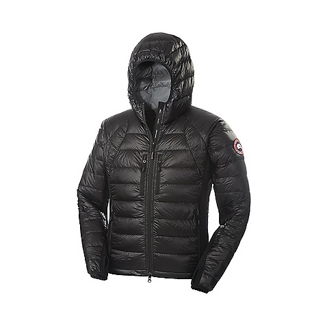 Free Shipping. Canada Goose Men's Hybridge Lite Hoody DECENT FEATURES of the Canada Goose Men's Hybridge Lite Hoody Feather-light 10D outer fabric allows for aspects of the down fill to show through, yet it is still fully abrasion resistant Quilt through design to reduce pack size Tensile-Tech inserts located at the sides and underarms for extended comfort and maximized fit Centre front YKK 2-way locking reversed coil zipper with Canada Goose logo puller Insulated centre front storm flap that extends over centre front zipper Canada Goose logo ribbon runs along centre Lower hand pockets are secured with YKK reverse coil zippers and zipper pulls Upper Napoleon chest pockets secure with YKK reverse coil zippers and zipper pulls Self-packable into exterior left hand pocket Internal stretch mesh pocket Two vertical strips of 3M reflective tape on back hood for better visibility Brushed tricot lined collar for added comfort and warmth Stretch Lycra hood edge and cuff binding with thumholes for comfort and performance The SPECS Centre Back Length: 30in. / 76.2 cm Fill Power: 800 fill power Hutterite White Goose down Fit: Slim Insulated This product can only be shipped within the United States. Please don't hate us. - $549.95