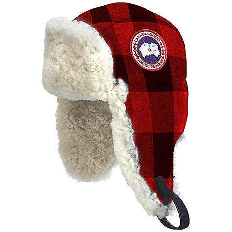 Entertainment Free Shipping. Canada Goose Merino Wool Shearling Pilot Hat DECENT FEATURES of the Canada Goose Merino Wool Shearling Pilot Hat Internal reflective tape at seams Adjustable leather chinstrap with metal buckle that can be used to tighten the earflaps Front shearling section can be dropped for further protection via a set of ring snaps Canada Goose disc at left side and Wordmark label at centre back Offered in two sizes The SPECS Ruff Fur: Curly Sheepskin Shearling Shell: 80% Merino Wool, 20% Nylon treated with Durable Water Repellent finishing Lining: 100% Polyester Plain weave This product can only be shipped within the United States. Please don't hate us. - $214.95