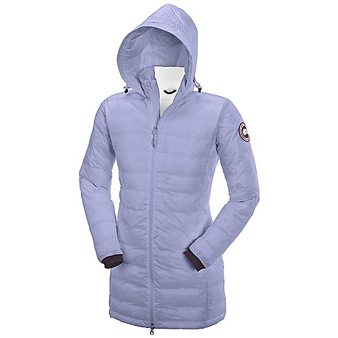 Camp and Hike Free Shipping. Canada Goose Women's Camp Down Hooded Jacket DECENT FEATURES of the Canada Goose Women's Camp Down Hooded Jacket Windproof by construction Mid-thigh length provides good protection Down filled collar adjusts with a drawcord to seal out drafts Centre front YKK 2-way locking reversed coil zipper, with Canada Goose logo zipper pull Insulated centre front storm flap that extends over centre front zipper Brushed tricot at chin for comfort Canada Goose logo ribbon runs along centre Two hand pockets secured with YKK reverse coil zippers and zipper pulls Brushed tricot at the back of the neck for increased warmth Internal stretch mesh pocket Integrated hood is constructed at the neckline for versatility and comfort Lycra stretch cuffs for comfort and warmth Brushed tricot lined inner pillow pocket with zipper closure The SPECS Centre Back Length: 31.5in. / 80 cm Fill Power: 750 Fill Power Hutterite White Duck Down Fit: Slim Insulated This product can only be shipped within the United States. Please don't hate us. - $494.95