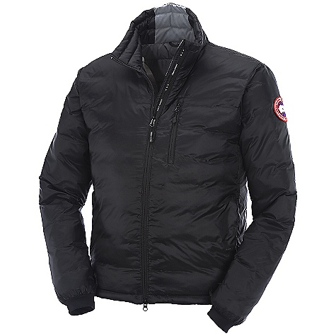 Hunting The Canada Goose Men's Lodge Down Jacket makes taking a jacket with you super easy and allows you to be free from the bulk of the usual jackets. Capable of being tucked neatly within its own pocket for quick storage, the Lodge Down Jacket won't weigh down your pack and totally solves the travel dilemma of whether or not you have enough room for a versatile jacket. Wear on a chilly fall night or an early morning hike on the trails for a lightweight and warm alternative to being cold. Features of the Canada Goose Men's Lodge Down Jacket Windproof by construction Hip-length Down filled collar adjusts with a drawcord to seal out drafts Centre front YKK 2-way locking reversed coil zipper, with Canada Goose logo zipper pull Insulated centre front storm flap that extends over centre front zipper Brushed tricot at chin for comfort Canada Goose logo ribbon runs along centre Two hand pockets secured with YKK reverse coil zippers and zipper pulls Napoleon chest pocket with YKK zipper reverse coil zippers and zipper pull Brushed tricot at the back of the neck for increased warmth Brushed tricot lined inner pillow pocket with zipper closure Single-handed adjustable hem using pocket access to seal out cold and wind Internal stretch mesh pocket Lycra stretch cuffs for comfort and warmth - $500.00