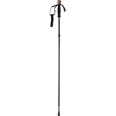Camp and Hike Free Shipping. Tracks Compact Travel Staff Trekking Pole DECENT FEATURES of the Tracks Compact Travel Staff Trekking Pole This shock-corded staff packs small for travel and includes such features as a walnut knob and flex tip with removable foot and basket Compact: Collapses easily with pushbutton length adjustment Secure Grip: Contoured foam with an easy-to adjust wedge-lock wrist strap Photo-Ready: Includes a built-in universal camera mount The SPECS Weight: 10.5 oz / 300 g Length: 48-54in. / 122-138 cm Stored: 19in. / 48 cm This product can only be shipped within the United States. Please don't hate us. - $89.95