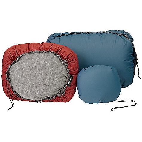 Camp and Hike Therm-A-Rest Down Pillow DECENT FEATURES of the Therm-A-Rest Down Pillow Ultralight, compressible and ultra comfortable, our Down Pillows travel easy and feature luxurious 650-fill goose down in a soft, brushed polyester cover A perimeter drawcord can be used to compress it, and alternately creates a pocket that can be stuffed with extra clothing or the NeoAir Pillow to customize firmness The SPECS for Small Dimension: 12 x 16in. / 30 x 41 cm Weight: 2.85 oz / 80 g The SPECS for Medium Dimension: 14 x 19in. / 36 x 46 cm Weight: 5.6 oz / 158 g The SPECS for Large Dimension: 16 x 23in. / 41 x 58 cm Weight: 7.6 oz / 216 g This product can only be shipped within the United States. Please don't hate us. - $39.95