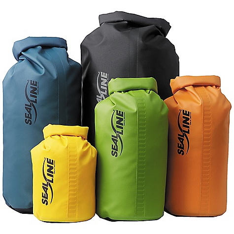 Fitness SealLine Baja Dry Bags DECENT FEATURES of the SealLine Baja Dry Bags The ever-popular Baja Bag offers proven protection for everything from river running to motorcycle touring The SPECS Closure: Dry Seal dual-strip roll-down Material: 19-oz scrim-reinforced vinyl body, 30-oz scrim-reinforced vinyl bottom The SPECS for 5 Liter Weight: 7 oz / 200 g Dimension: 7 x 8in. / 18 x 20 cm Volume: 280 cubic inches / 4.5 liter The SPECS for 10 Liter Weight: 11 oz / 310 g Dimension: 8 x 14in. / 20 x 36 cm Volume: 620 cubic inches / 10 liter The SPECS for 20 Liter Weight: 14.5 oz / 410 g Dimension: 9 x 16in. / 23 x 41 cm Volume: 1170 cubic inches / 19 liter The SPECS for 30 Liter Weight: 1 lb 4 oz / 570 g Dimension: 11 x 19in. / 28 x 40 cm Volume: 1950 cubic inches / 32 liter The SPECS for 40 Liter Weight: 1 lb 8 oz / 680 g Dimension: 13 x 20in. / 33 x 51 cm Volume: 2400 cubic inches / 40 liter The SPECS for 55 Liter Weight: 1 lb 12 oz / 800 g Dimension: 13 x 25in. / 33 x 61 cm Volume: 3310 cubic inches / 54 liter This product can only be shipped within the United States. Please don't hate us. - $19.95