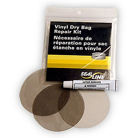 SealLine Vinyl Dry Bag Repair Kit FEATURES of the SealLine Vinyl Dry Bag Repair Kit Make field repairs to any vinyl dry bag with these transparent, adhesive vinyl patches Kit Includes: 3 Vinyl patches and a tube of adhesive - $7.95