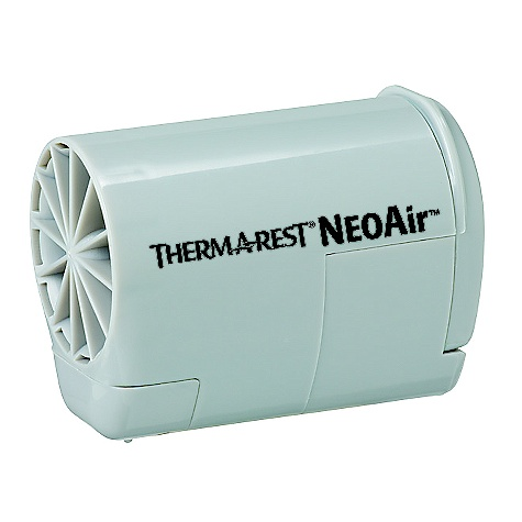 Camp and Hike Therm-a-Rest NeoAir Mini Pump FEATURES of the Therm-a-Rest NeoAir Mini Pump Flip it open and watch your mattress inflate The new NeoAir pump, powered by two AAA batteries, inflates NeoAir mattresses to the perfect level of comfortin.around three minutes The small, ultralight unit is easy to pack on any adventure - $39.95
