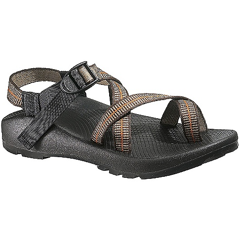 Entertainment On Sale. Free Shipping. Chaco Men's Z-2 Unaweep Sandals DECENT FEATURES of the Chaco Men's Z/2 Unaweep Sandals A webbing toe loop allows you to strap in for security Deep lugs of the Unaweep outsole provide a non-marking grip The SPECS Weight: 17.12 oz / 485 g The SPECS for Upper Polyester jacquard webbing upper Cement construction Custom Adjust'em fit The SPECS for Midsole ChaPU polyether polyurethane midsole Luvseat XO1 platform The SPECS for Outsole Vibram TC-1 rubber 4-5mm lug depth High traction and self cleaning tread design Non-marking - $78.99