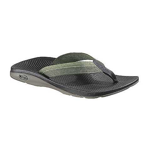 Entertainment On Sale. Free Shipping. Chaco Men's Flip EcoTread Sandals FEATURES of the Chaco Men's Flip EcoTread Sandals Upper: Polyester jacquard webbing upper with high tensile webbing toe post Midsole: Durable LUVSEAT polyurethane footbed with slip resistant classic diamond pattern design Outsole: Non-marking Classic outsole with EcoTread rubber and 25% recycled content 2 mm lug depth with all purpose tread design - $40.99