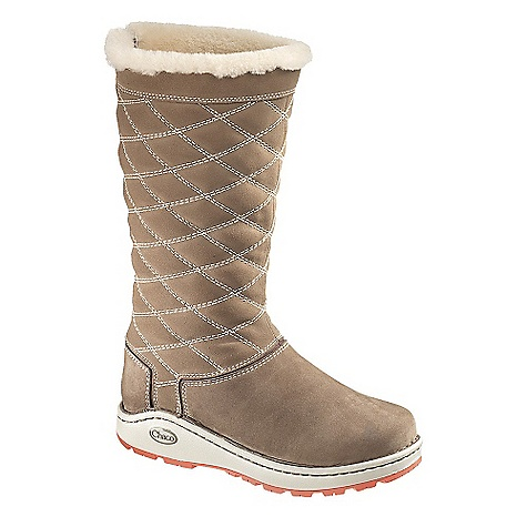 On Sale. Free Shipping. Chaco Women's Arbora Tall Waterproof Boot DECENT FEATURES of the Chaco Women's Arbora Tall Waterproof Boot Pull-on with medial zip 13in. waterproof fullgrain leather upper Chaco waterproof membrane Full shearling lining with pigskin sockliner LUVSEAT XO1 platform Fixed fit Vibram Nurl Outsole The SPECS Weight: 23.8 oz / 675 g - $190.99