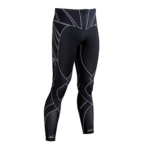 Fitness Features of the CW-X Men's Revolution Tights Lower torso/leg stability and balance during running Increased knee shock absorption during the foot strike/load-bearing phase of running Xcelerated Recovery: Targeted Support and compression Features of the EXO-Lite Seamless Support Web, allow your muscles to quickly recover from the aches and pains caused by lactic acid build up in the muscles 50% CoolMax Nylon / 50% Polyurethane 4-way stretch body fabric: Helps to keep the body cool and dry, pulls moisture away from the body and carries it to the outside of the tight UPF 50+ for UVA/UVB protection A non slip double reinforced waistband and drawstring keep everything in place Key pocket - $158.99