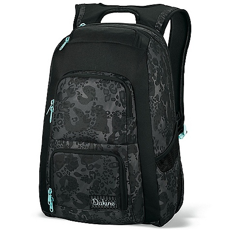 Surf On Sale. Free Shipping. Dakine Women's Jewel Bag DECENT FEATURES of the Dakine Women's Jewel Bag Side access padded laptop compartment Fits most 14in. laptops Fleece lined sunglass pocket Organizer pocket Mesh side pockets Insulated cooler pocket The SPECS Volume: 1600 cubic inches / 26 liter Dimension: 19 x 12 x 9in. / 48 x 30 x 23 cm 600D Polyester - $54.99